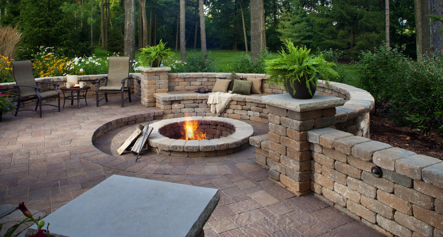Paver Stone & Fire Pit Construction